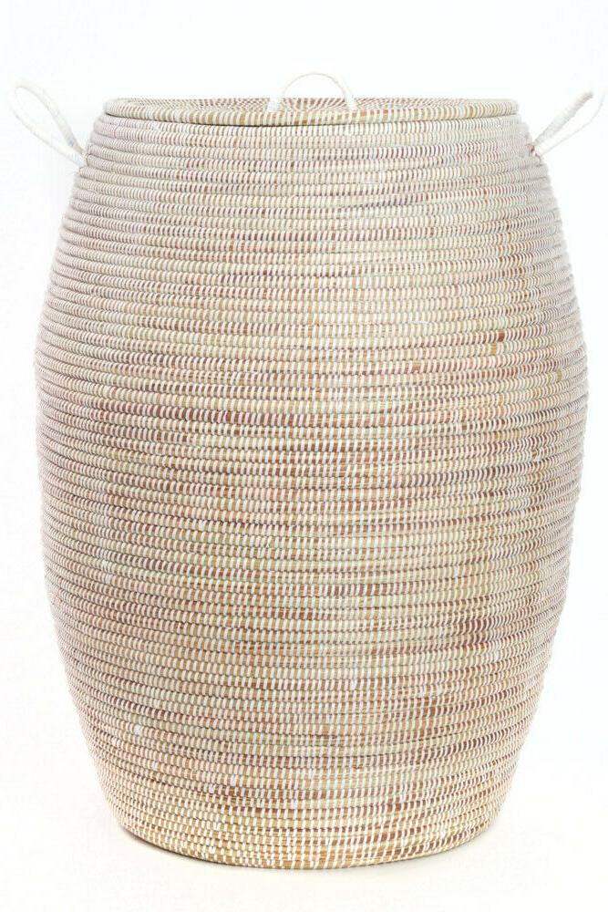 senegalese tall bongo hamper baskets fair trade