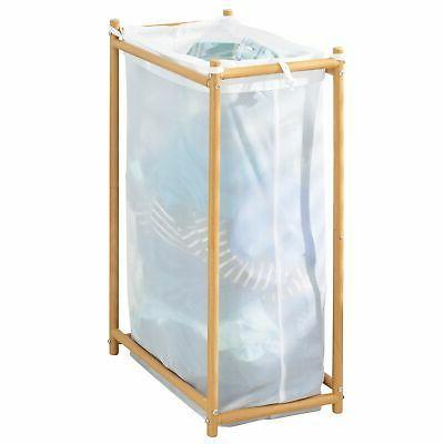 mDesign Laundry Hamper Organizer, Removable Mesh Bag