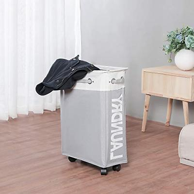 comfortez Rolling Hamper Laundry with on