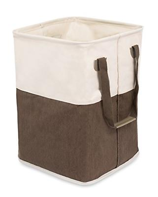 square cloth laundry hamper with handles dirty