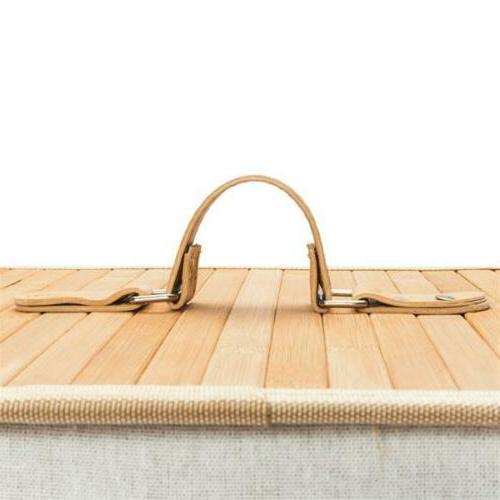 Square Laundry Bamboo Basket