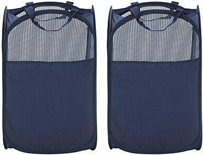 storagemaniac foldable pop up mesh hamper laundry