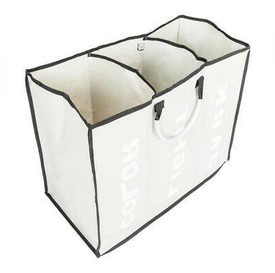 Laundry Bin 3 Sections Large Hamper Sorter