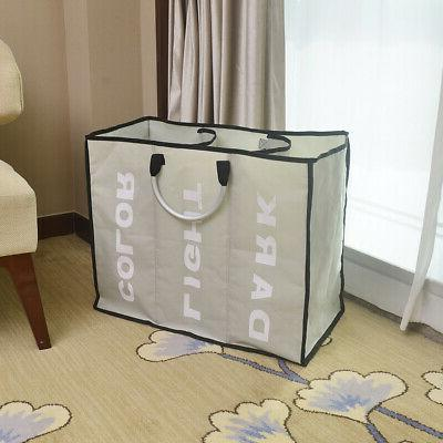 Laundry 3 Sections Large Dirty Hamper Storage Tool
