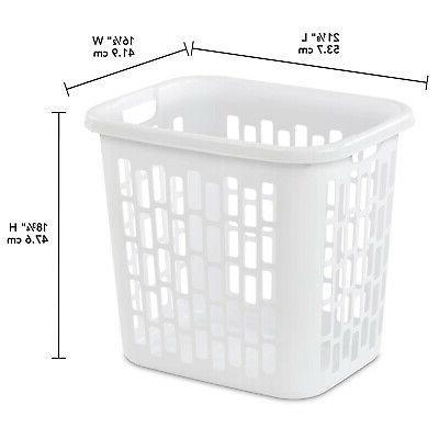Sterilite Easy Plastic Clothes Laundry Basket