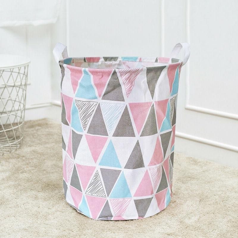 Foldable Large Storage Laundry Hamper Clothes Cotton Laundry Washing