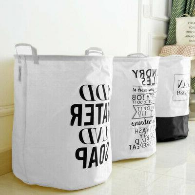 Foldable Laundry Basket Bag Clothes &