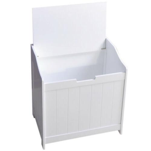 White Laundry Hamper Clothes Toys Furniture Clothes Bedroom