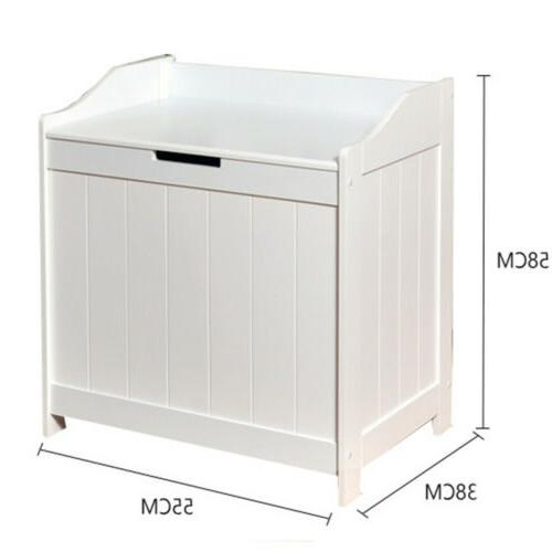 White Laundry Hamper Cabinet Clothes Toys Clothes
