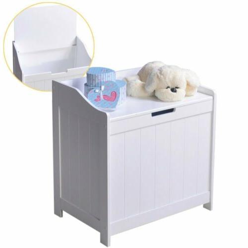 white laundry hamper cabinet clothes toys storage