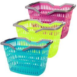 Large 30 Litre Laundry Basket With Folding Handles Storage W