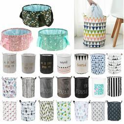 Large Foldable Laundry Hamper Washing Clothes Basket Toy Sto