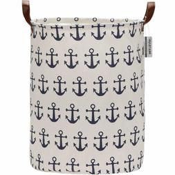 Sea Team Large Size Canvas Laundry Hamper Collapsible Storag