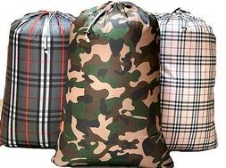 "Large Washable Laundry Bag 28"" X 40"" Heavy Duty Hamper Draws"
