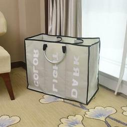 Laundry 3 Triple Sorters Hamper Clothes Storage Basket Bin O