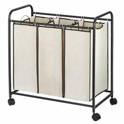 Laundry Basket Bag Organizer Foldable Washing 3 Removable Se