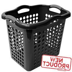 Laundry Basket Hamper Clothes Storage Bin Plastic Organizer