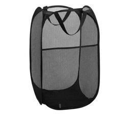 Laundry Basket Foldable Mesh Hamper Washing Clothes Bag Pop