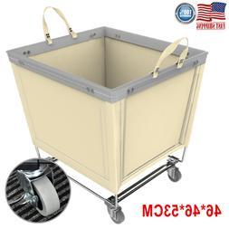 Laundry Cart Hamper Commercial Heavy-Duty Canvas Basket Orga
