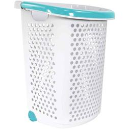 Laundry Hamper 2Bushel Basket Clothes Storage Bag Rolling Wa