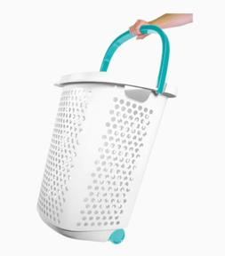 Laundry Hamper Basket Clothes Storage Bag Rolling Washing Bi