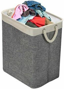 Laundry Hamper Basket w/ Carry Handles & Detachable Rods,for