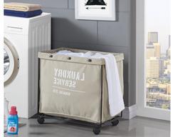Laundry Hamper Canvas Liner Clothes Storage Basket Home Orga