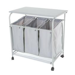 Laundry Hamper Cart Ironing Board on Wheels Clothes Sorter 3