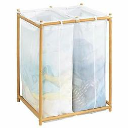 mDesign Laundry Hamper Organizer/Sorter with Metal Stand and