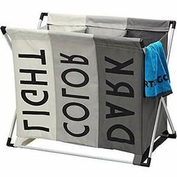 HOMEST Laundry Basket 3 Sections, Large Dirty Clothes Hamper