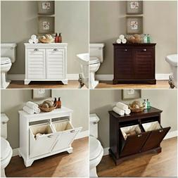 Laundry Hamper Tilt Out Cabinet Hidden Linen Storage Furnitu