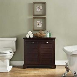 Laundry Hamper Tilt Out Double Door Bathroom Linen Cabinet E