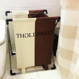 Laundry Hamper Washing Basket Double Cloth Storage Bin Organ