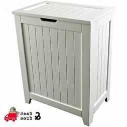 Laundry Hamper With Lid Wood Bathroom Organizer 2 Loads Stor