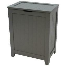 Laundry Hamper With Lid Wood Clothes Storage Bin Bathroom Ho