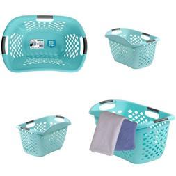 Laundry Plastic Basket Hamper Hip-Hugging Design Comfortable