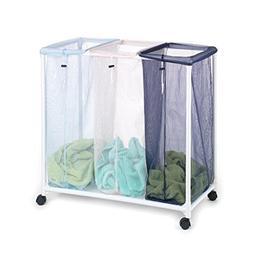 Homz Laundry Seymour 3 Bin Pvc Mesh Sorter 4549005 Clothes H