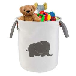 NASHRIO Laundry Storage Basket Hamper, Functional Cotton Gre