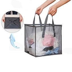 mesh popup laundry hamper with handles portable
