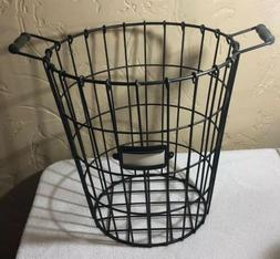 POTTERY BARN Metal Laundry Basket Hamper Industrial Wire Thi