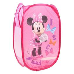 Minnie Mouse Pink Popup Laundry Hamper Durable Collapsible f