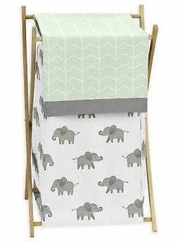 Mint Grey Sweet Jojo Baby Kid Watercolor Elephant Safari Clo