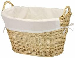 Household Essentials Ml-5569 Willow Wicker Laundry Basket Wi