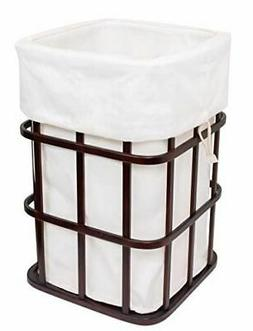 BIRDROCK HOME Modern Square Laundry Hamper and Removable Lau