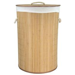 Natural Bamboo Hamper Laundry Basket Storage Large Corner La