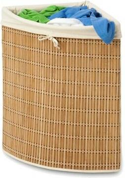 Laundry Basket Natural Large Wicker Hamper Woven Wedge Cloth