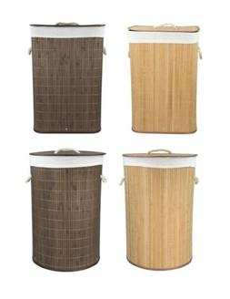 Home Basics NEW Bamboo Foldable Laundry Basket Natural Brown