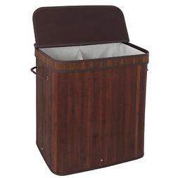 New Home Bathroom Spa Laundry Hamper Clothes Storage Bamboo