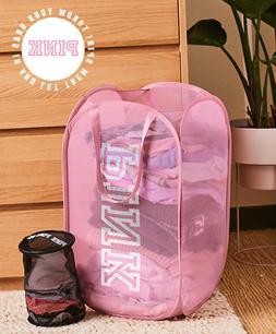 NEW Victoria's Secret PINK Laundry Pop-Up Hamper Basket Inti