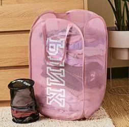 NEW! Victorias Secret PINK PopUp Laundry Bag Basket Hamper &